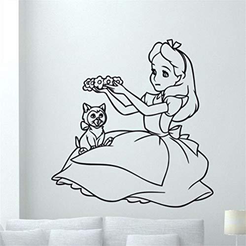 Zkpmjh adesivi e murali da parete princess carving removable personality living room bedroom sofa background wall sticking