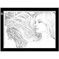 Mesa de Luz de Dibujo, LED A4 Tableta de Luz, Tablero de Trazado Brillo Ajustable, Light Pad para Artistas, Animación, Bocetos, Diseño, X-Ray