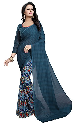 Kanchan Women's Soft Georgette Saree (RAMA)