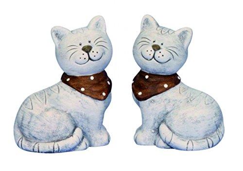 Unbekannt 2 STK. Katze mit Schal 15,5 cm Set