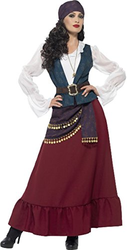 Frauen Erwachsene Fancy Kleid Piraten Party Deluxe Pirat Buccaneer Beauty Kostüm, Violett (Buccaneer Beauty Kostüm)