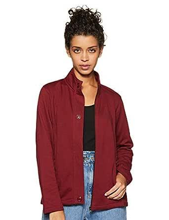 Cazibe Women's Fleece Sweatshirt (308BOU_Maroon_Medium)
