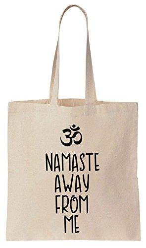 Namaste Yoga-tote (Namaste Away From me Om Sign Tote Bag Baumwoll Segeltuch Einkaufstasche)