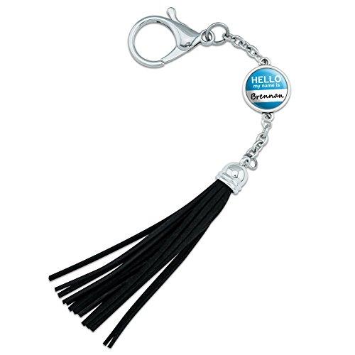 brennan-hello-my-name-is-backpack-handbag-purse-sports-bottle-keychain-tassel-charm