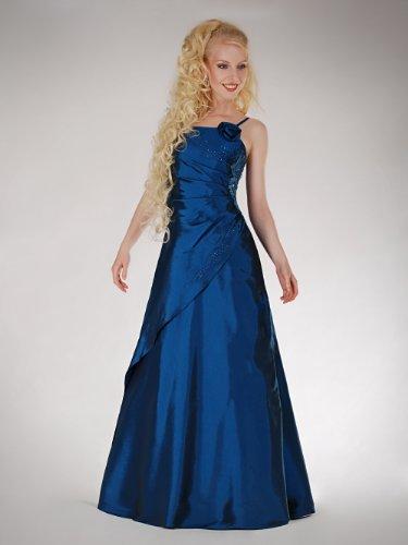 Austen -  Vestito  - linea ad a - Basic - Senza maniche - Donna Blu