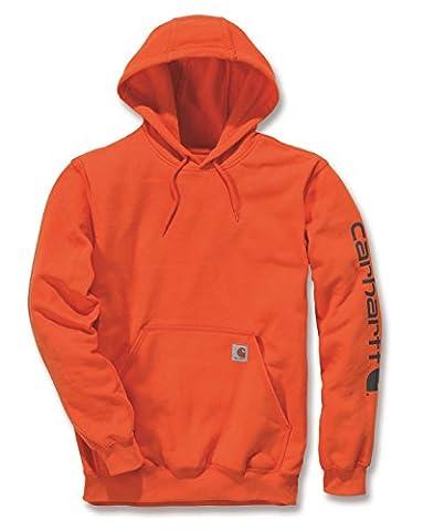 Carhartt Sleeve Logo Hooded Sweatshirt Orange L
