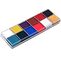 Candybarbar 12 Colors Tattoos Color Pigment Face Body Paint Oil Painting Art Make Up With Brushes Halloween Party Fancy Dress Makeup