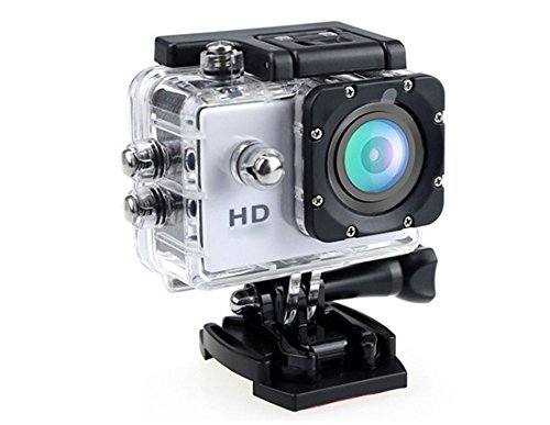 30M Waterproof 2 90 Wide Angle Lens Hd 720P Sports Mini Video Camera With Card Slot (White)