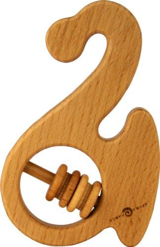 Saxophon Kinder Rassel, Leinöl, 100% Bio. Ring Beißring Bio Beruhigende Hohe Qualität Europa