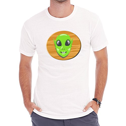 Alien Space Extraterrestrial UFO Trophy Head Herren T-Shirt Weiß