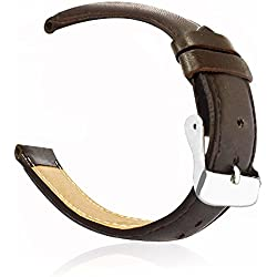 Watch Band Luxury Genuine Leather Watch Replacement Band Wrist Strap For Apple Watch 38mm Brown