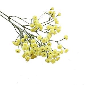 Kunstblumen Clode® Künstliche Seide gefälschte Blumen Baby Atem Blumen Hochzeit Bouquet Party Dekor (Gelb)