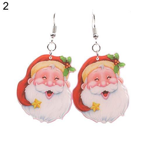 Bangle009new cute santa claus pendant ear drop orecchini donna gioielli di natale decor gift–5, 2