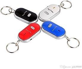 Style Eva New Alarm Locator Tracker Lost Key Finder Whistle Sound Control LED Keychain (Multicolour)