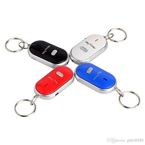 Style-Eva-Alarm-Locator-Tracker-Lost-Key-Finder-Whistle-Sound-Control-LED-Tracer-Keychain-Multicolour