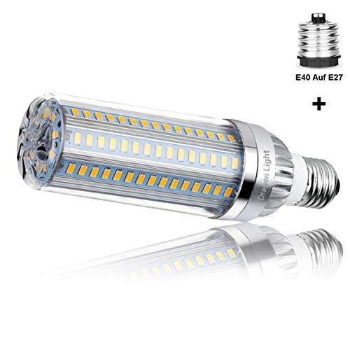50W Superhelle Mais Licht LED Glühbirne(Ersetzt 350Watt) - 3000K Warmweiß 5500 Lumen - E27 Edison LED Lampe mit E40 Adapter für Gewerblichen Bereich Beleuchtung - Garage Lager Werkstatt Fabrik Hof