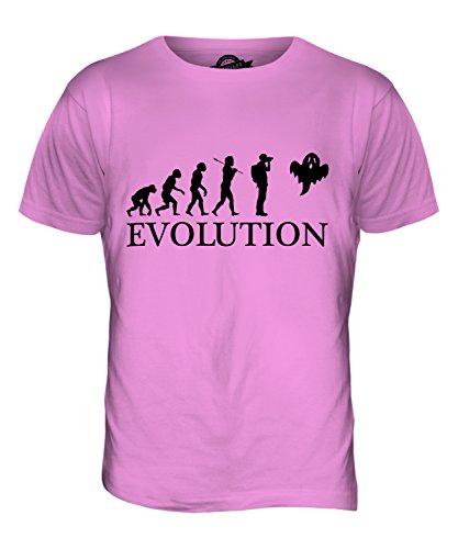 CandyMix Paranormal Gespenst Evolution Des Menschen Herren T Shirt Rosa