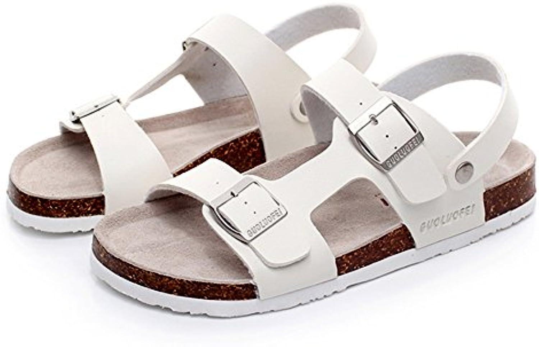 ZHANGRONG  Herren Sandalen Flachen Sandalen Offenen Pantoffeln Zwei Arten von Verschleiß Gesetz (Farbe : A  größe