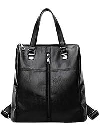 ALIKEEY 2018 Vintage ♈ Girl Leather School Bag Mochila Satchel Mujeres Viaje Bandolera Con Cremallera De Cuero SóLido Sn Para Mujer Original En Gorjuss Carteras Tela Imitacion Luis Negros