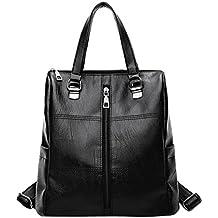 ALIKEEY 2018 Vintage ♈ Girl Leather School Bag Mochila Satchel Mujeres Viaje Bandolera Con Cremallera De