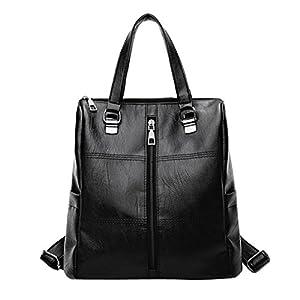 ALIKEEY 2018 Vintage Girl Leather School Bag Mochila Satchel Mujeres Viaje Bandolera Con Cremallera De Cuero SóLido Sn Para Mujer Original En Gorjuss Carteras Tela Imitacion Luis Negros