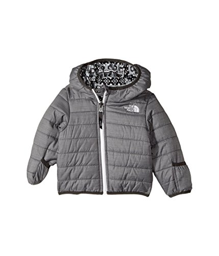 Face 3m North The (The North Face Infant Reversible Perrito Jacket - TNF Medium Grey Heather - 3M (Past Season))