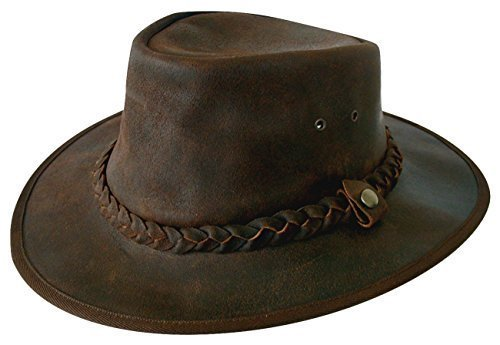 explorer-brown-leather-bush-hat-from-cotswold-country-hats-63cm-xxl