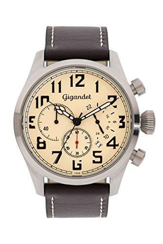 Gigandet Herrenuhr Chronograph Quarzwerk mit Lederarmband Interceptor G4-004