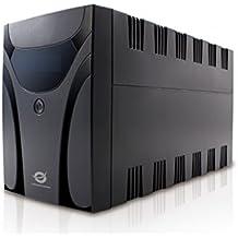 Conceptronic CUPS1200 Línea interactiva 1200VA 6AC outlet(s) Negro sistema de alimentación ininterrumpida (UPS) - Fuente de alimentación continua (UPS) (1200 VA, 600 W, 220 V, 240 V, 50/60, C13 acoplador)