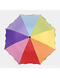 Monbedos Paraguas plegable, paraguas de flores, paraguas de viaje, paraguas de protección UV, para exteriores