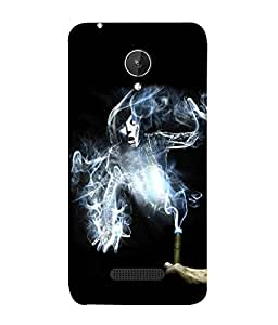 Fuson Designer Back Case Cover for Micromax Canvas Spark Q380 (smoke smoking kills danger life end )
