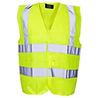Scan WWHVWC13 High Visibility Waistcoat - Yellow (Child 10-13  )