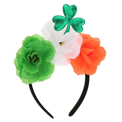 Fenteer Grün Kleeblatt Blatt Blumen Stirnband St. Patrick Day Party Parade Dress ()