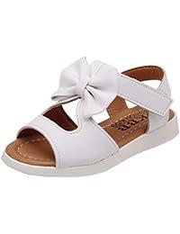 Sandalias niña ❤️ Amlaiworld Zapatos bebés Niños Sandalias de verano para niñas chica Zapatillas planas Bowknot zapatos princesa calzado (31, Blanco)