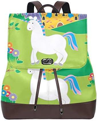DEZIRO cuoio bianco unicorno School School School Pack zaino borsa da viaggio B07H94Y17Q Parent | Varietà Grande  | Esecuzione squisita  | Shopping Online  a4c97a