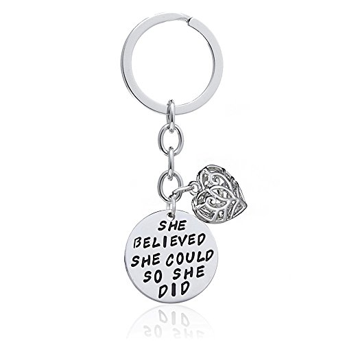 family-friend-gift-silver-she-believed-she-could-so-she-did-double-pendant-key-chain-ring-for-women-