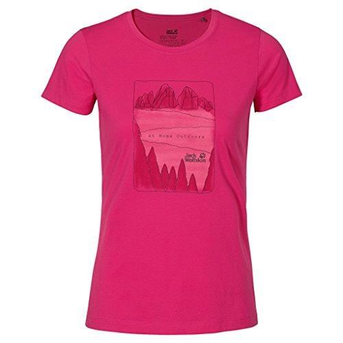 Jack Wolfskin Femme Valley Tee Pink Raspberry