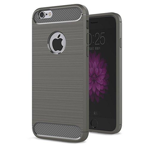 """Coque iPhone 6 Plus / 6S Plus , IJIA Ultra-mince Haut Luxueux Gris TPU Doux Silicone Bumper Case Cover Shell Housse Etui pour Apple iPhone 6 Plus / 6S Plus 5.5"""" gray"""