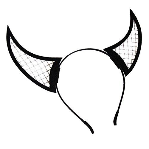 YeahiBaby Halloween Horn Haarreif Teufelshörner Stirnband Haarbänder für -
