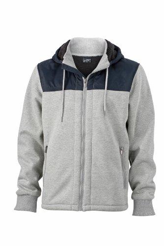 James & Nicholson - Jacke Mens Jacket Teddy Lined, Giacca Uomo Blu (Sports/Grey/Navy)