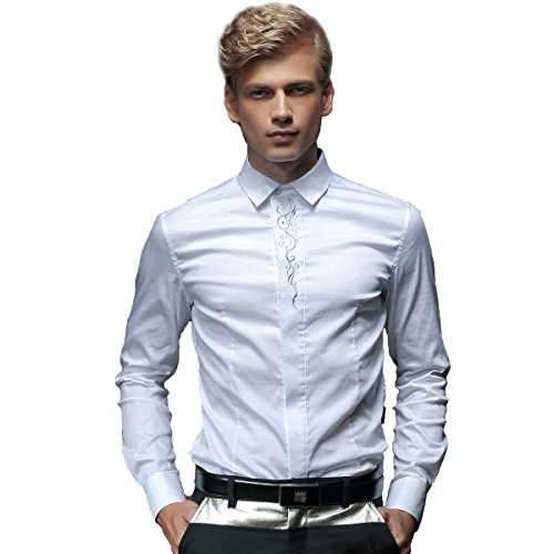 fanzhuan-white-fitted-shirt-men-wedding-dress-shirt-slim-fit-long-sleeve