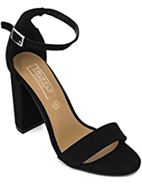 a4461b9e40c TRUFFLE COLLECTION Black Weave Block Heel Sandals
