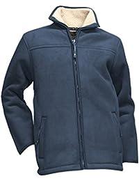 LMA 216500corteza chaqueta polar forro Sherpa cuello alto, marino, 3