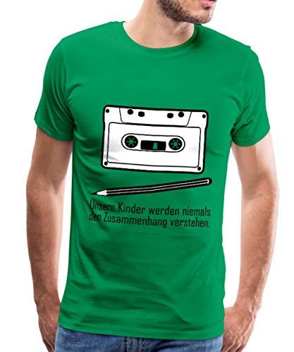 Spreadshirt Zusammenhang Tape Bleistift Männer Premium T-Shirt, L, Kelly Green Kelly Green Band