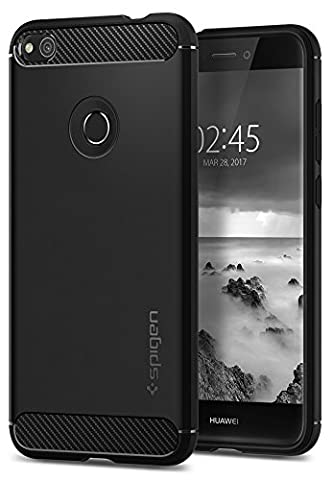 Coque Huawei P8 Lite Noir - Coque Huawei P8 Lite 2017, Spigen [Rugged