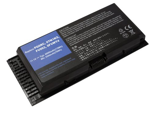 Power Smart® Li-Ion 11,10 V 6600 mAh batterie pour Dell Precision M4600 M4700, M6600 M6700, 0 FVWT4, 0tn1 K5, 312-1176, 312-1177, 312-1178, 3DJH7, 451-11742, 451-11743, 451-11744, 97 KRM, 9 GP08, FV993, KJ321, PG6RC, R7PND, X57 F1