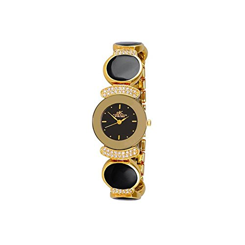 ADEE Kaye Women's Crystal Brass Bracelet & CASE Quartz Analog Watch AK8401-GBK