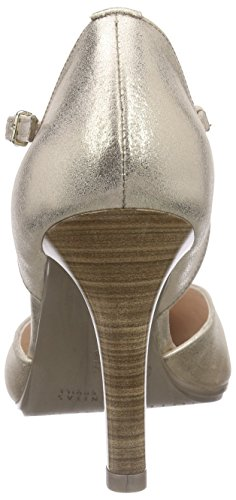 Hispanitas St-tropez, Chaussures à talons avec bride style salomés femme Or - Gold (MAGIC-V6 MEKONG)