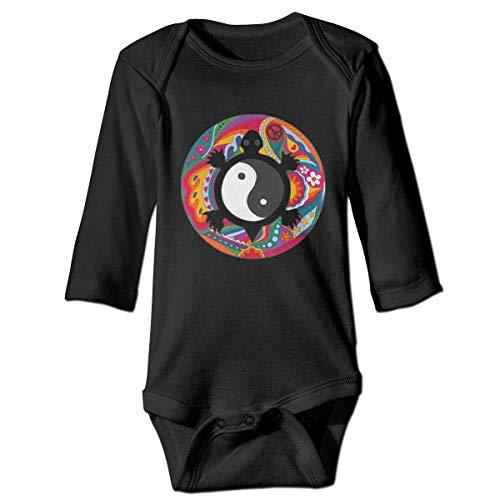 WBinHua Body bébé Body bébé garçon, Psychedelic Turtle Yin Yang Baby Toddler Long Sleeve Onesies Bodysuits