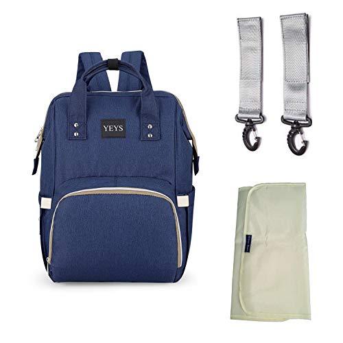 Rucksack Mamma Multifunction YEYS, Herren-Rucksack, wasserabweisend, Sporttasche, Wickeltasche, Reisehalter, Kinderwagen, Kinderwagen, große Kapazität - Blau